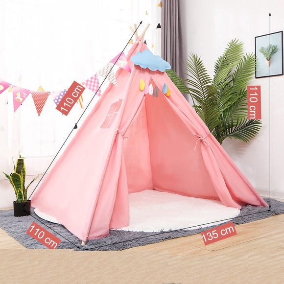 Children play indoor tent
