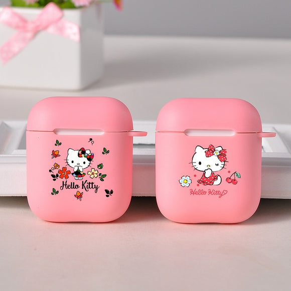 Silicone Soft Protective Cover Cute Hello Kitty Pink Case For Airpods pro 1/2