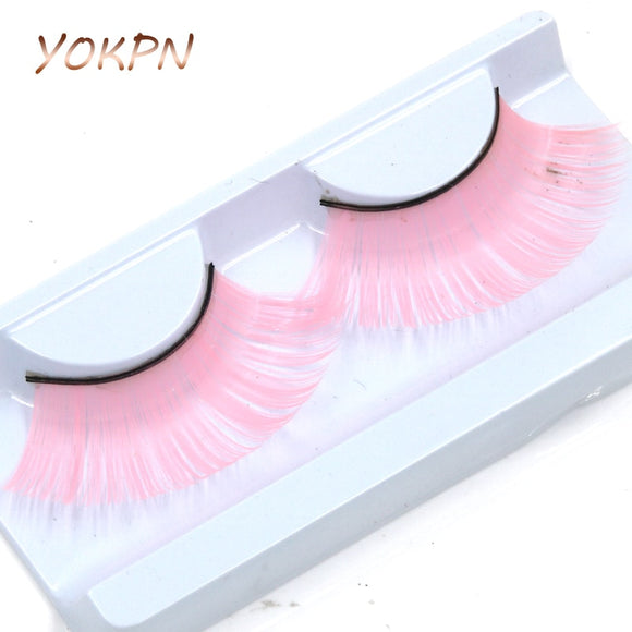 Pink fake eyelashes