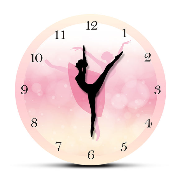Girl dancing wall clock