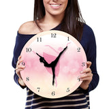 Wall clock pink girl dancing