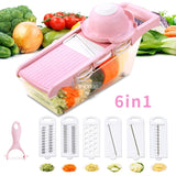 6 in 1 vegetable grater with peeler