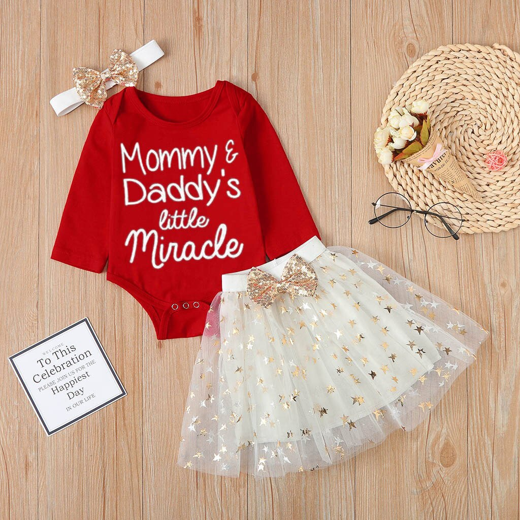 Newborn Baby Girls 1st Valentine's Day Romper+ Tulle Tutu Skirts Outfits Set roupa infantil menina baby girl winter clothes new