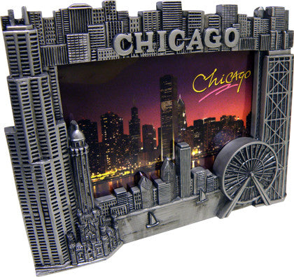 Chicago Pewter Picture Frame - 3 x 5 picture