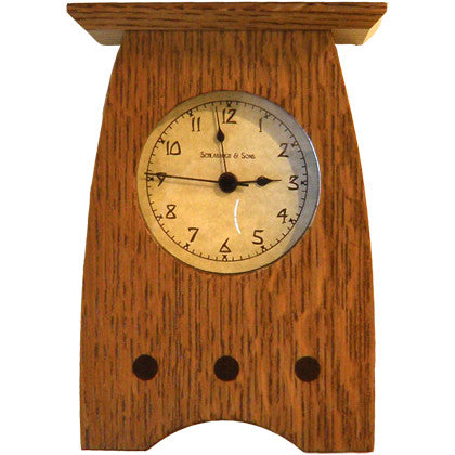 Mantel Clock - Nut Brown Oak