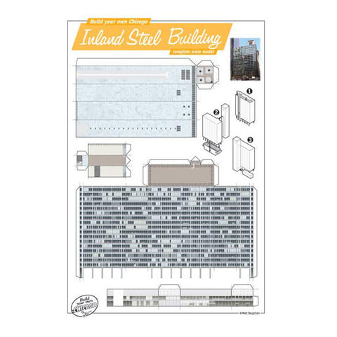 Build Your Own Inland Steel Building Postcard