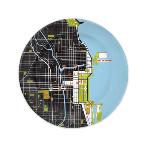 Chicago City Map Plate