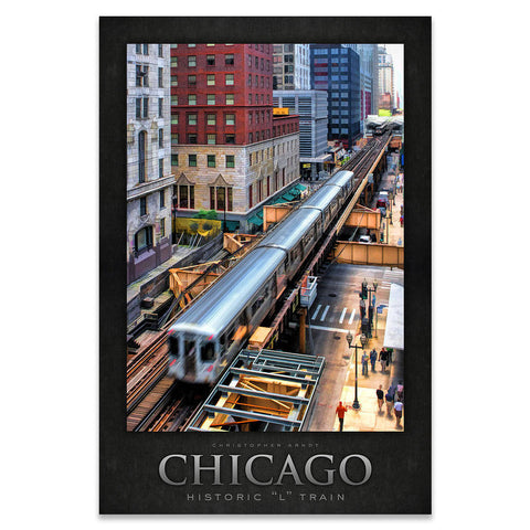 "Chicago's Historic ""L"" Train Poster"