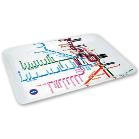 "Chicago ""L"" Map Melamine Tray"