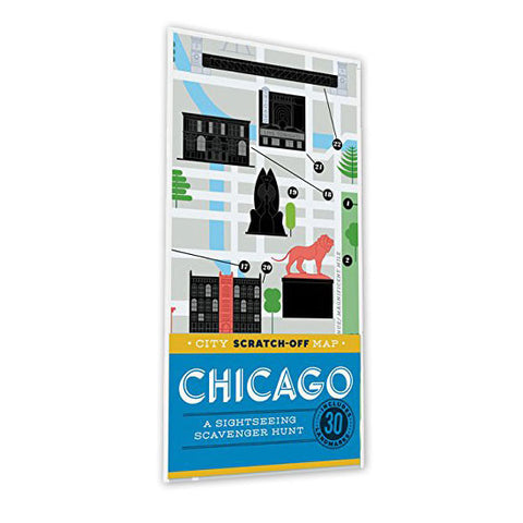 Chicago Scratch Off Map