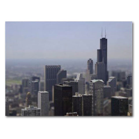 Chicago Skyline Design Print