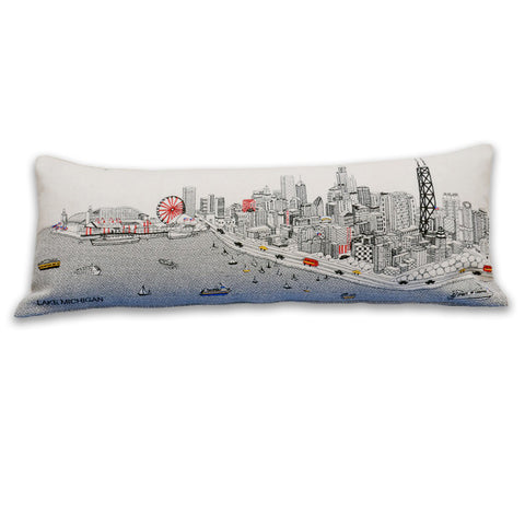 Chicago Skyline at Day Pillow