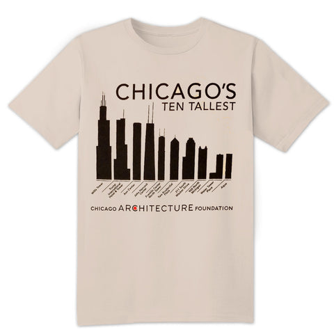 Chicago's Ten Tallest Buildings Adult T-Shirt