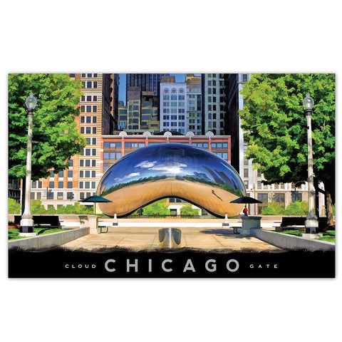 Cloud Gate in Millennium Park Postcard