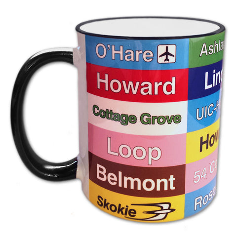 """L"" Destination Signs Mug"