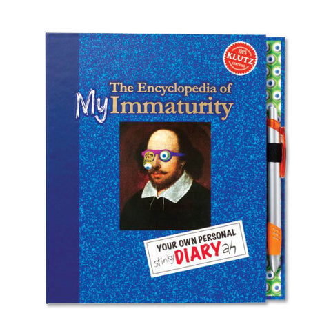 The Encyclopedia of my Immaturity - Hardcover Diary