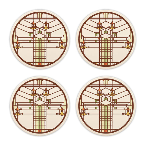 Frank Lloyd Wright Bradley House Coasters - Set of 4
