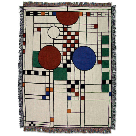 Frank Lloyd Wright Coonley Playhouse Throw Blanket