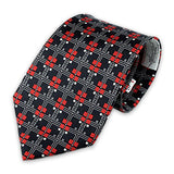 Frank Lloyd Wright Coonley Playhouse Tulip Frieze Tie in Black