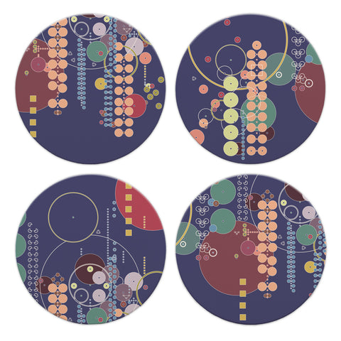 Frank Lloyd Wright Midway Gardens Coasters - Set of 4
