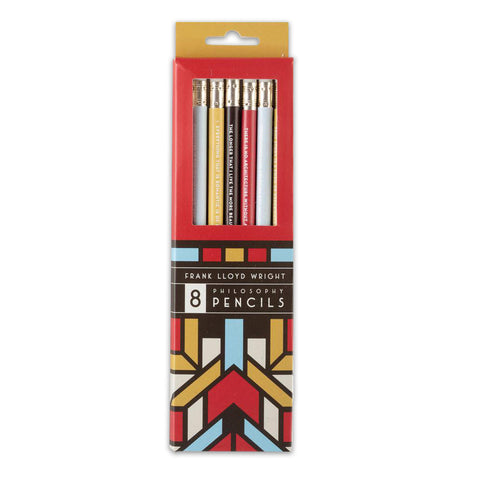 Frank Lloyd Wright Philosophy Pencils - Set of 8