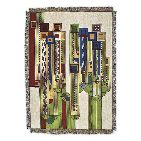 Frank Lloyd Wright Saguaro Forms Throw Blanket