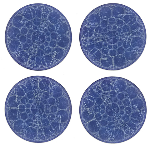 Frank Lloyd Wright S.C. Johnson Coasters - Set of 4