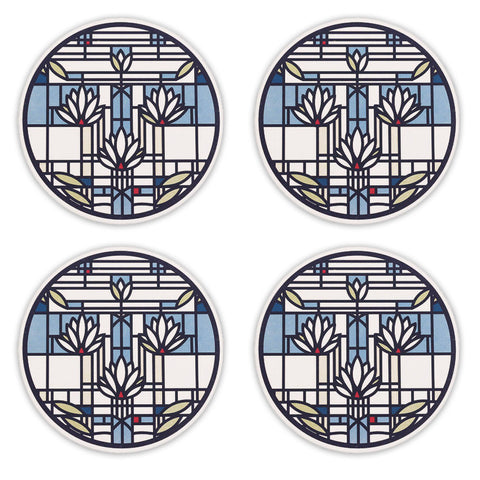 Frank Lloyd Wright Waterlilies Coasters - Set of 4