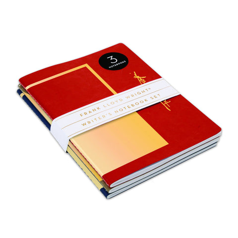 Frank Lloyd Wright Writer's Notebook Set - Set of 3