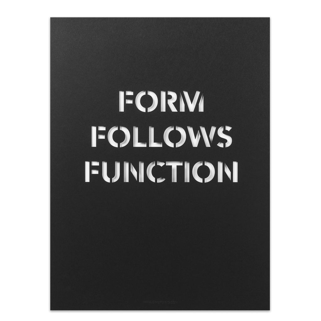 Form Follows Function Poster In Black