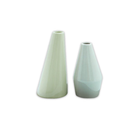 Shades of Green Vases - Set of 2