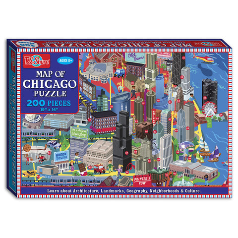 Map of Chicago 200 Piece Puzzle