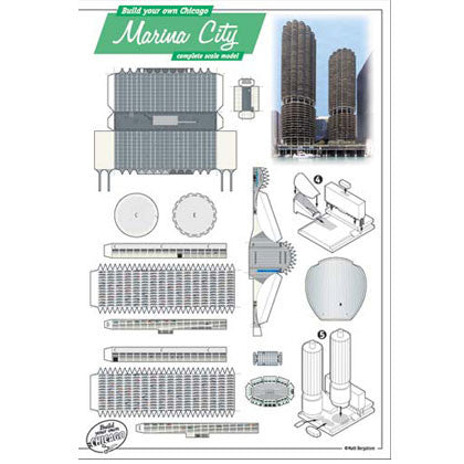 Build Your Own Marina City Postcard