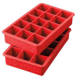 Perfect Cube Ice Tray, Set of 2 - Red