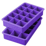 Perfect Cube Ice Tray, Set of 2 - Purple