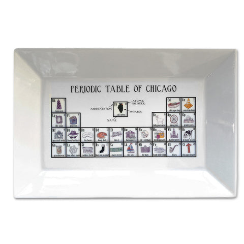 Periodic Table of Chicago Platter