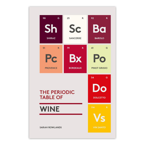 The Periodic Table of Wine - Hardcover Book