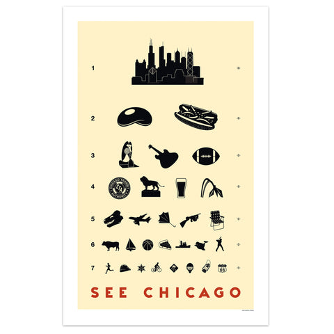 Chicago Eye Chart Print