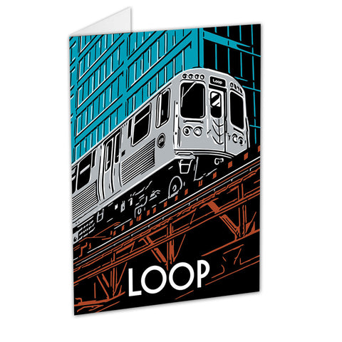 Cta products the chicago l train page 2 chicago the loop neighborhood greeting card sciox Image collections
