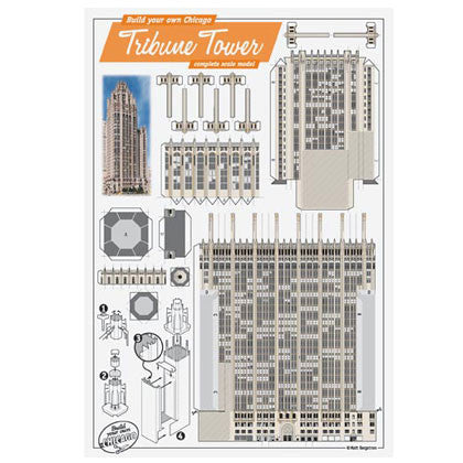 Build Your Own Tribune Tower Postcard