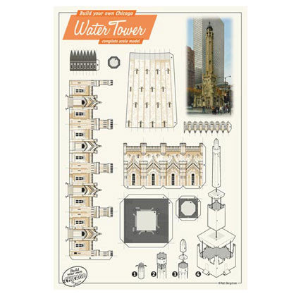 Build Your Own Chicago Water Tower Postcard