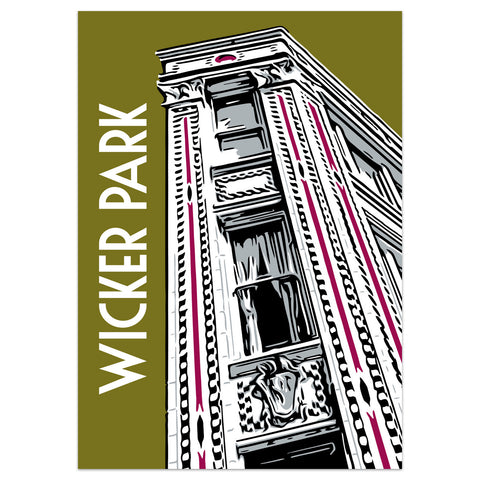 Wicker Park Neighborhood Poster