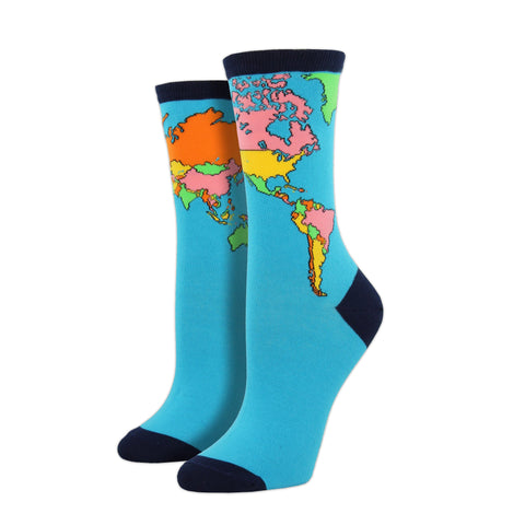 World Map Socksmith Socks