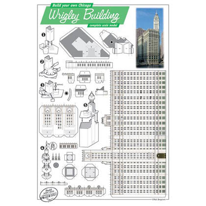 Build Your Own Wrigley Building Postcard Chicago Architecture