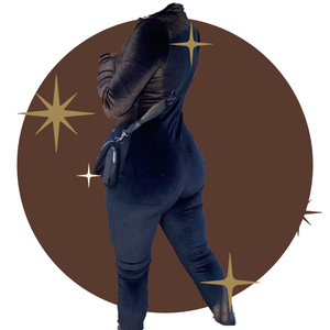 Velvet full zip jumpsuit