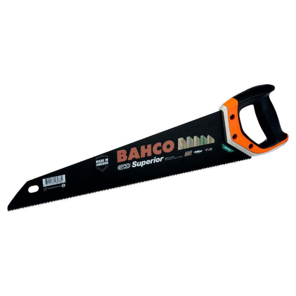 "Bahco 22"" 9/10 TPI ERGO Superior Saws for Plaster/Boards of Wood Based Materials 2600-22-XT-HP"