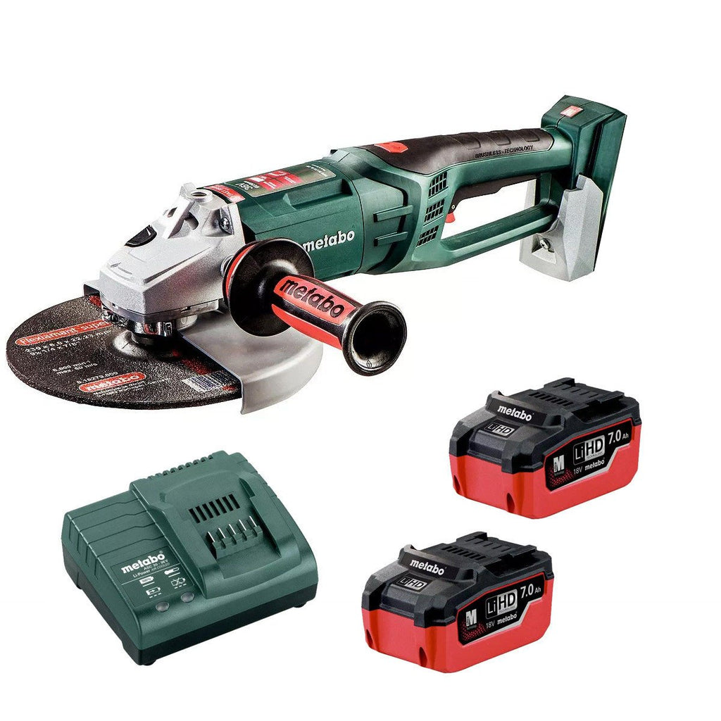 Metabo 18Vx2 230mm Angle Grinder 7.0Ah Kit WPB 36-18 LTX 230 K