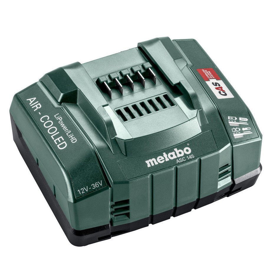 Metabo 12-36V Air-Cooled Super Fast Charger ASC 145 627381000