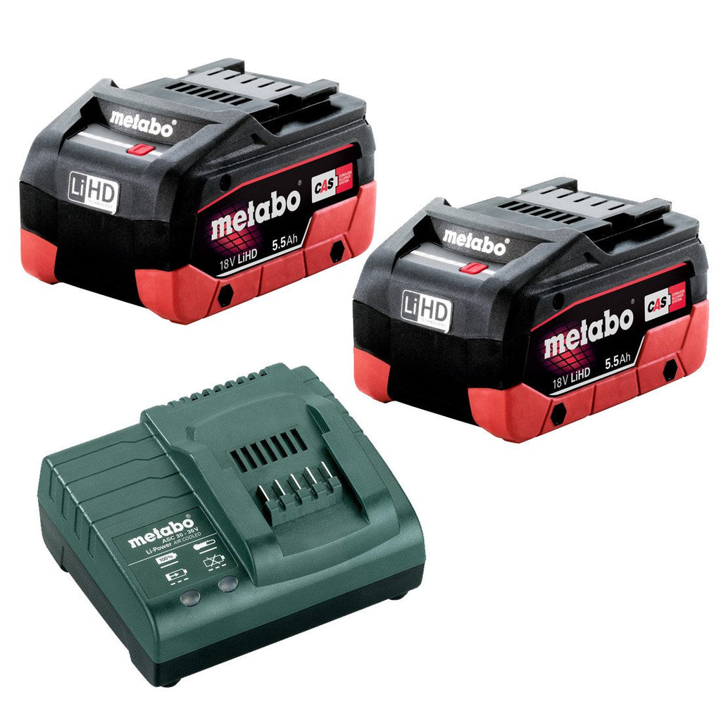Metabo 18V 5.5Ah LiHD Battery / Charger Kit AU32100104