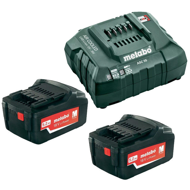Metabo 18V 5.2Ah Li-Power Starter Pack AU32100520